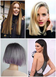 Düz Kesim Saç Modeli