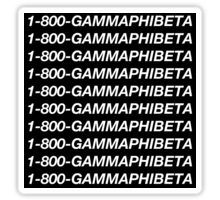 Gamma Phi Beta Black Hotline Bling Sticker