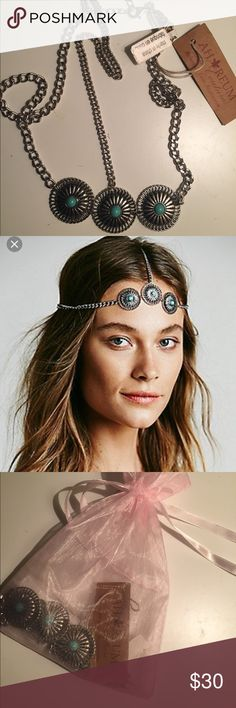 Ahreum bohemian headpiece Stunning silver and turquoise stoned bohemian headpiece. Ahreum La Couture Accessories Hair Accessories