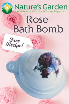 Free Rose Bath Bomb Recipe by Natures Garden