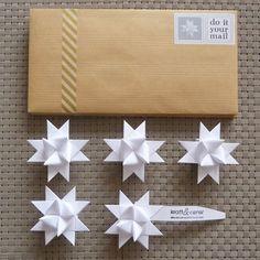 DIY MAIL : 5 Origami Stars Kit Box Envelop. U20ac5.00, Via Etsy