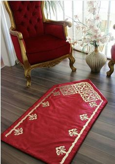 This Pin was discovered by Ünz Muslim Prayer Rug, Islamic Prayer, Fun Crafts For Teens, Ramadan Crafts, Prayer Room, Islamic Art Calligraphy, Embroidery Fashion, Home Textile, Bed Sheets