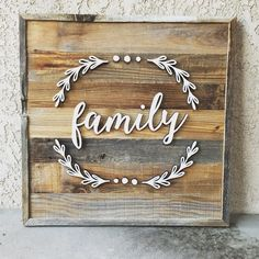 Another custom order from the #OTFM . #family #lasercutting #lasercut #rustic #rusticdecor #homedecor by harpergrayce