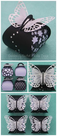 Stampin' Up! Basic Black Butterfly Thinlits Curvy Keepsake Box