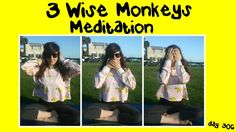 Three Wise Monkeys Meditation (Day 306)   Laying of Hands Calming Guided...