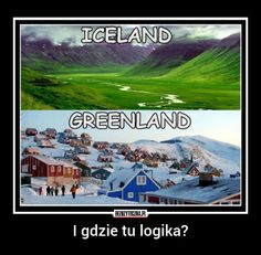 Actually it is good logic. The person who found Iceland didn't want people to go there too so he called it Iceland Funny Cute, The Funny, Hilarious, Just For Laughs, Funny Posts, Laugh Out Loud, I Laughed, Minion, Haha