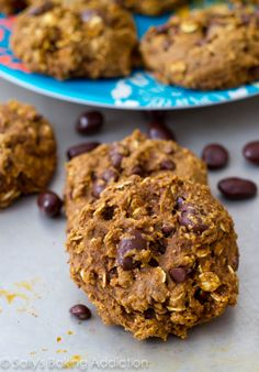 Healthy Oatmeal Raisinet Cookies by @Sally M. [Sally's Baking Addiction]