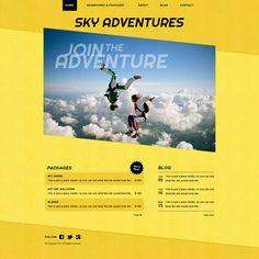 Air Sports Website Template Sky Adventure, Sports Website, Html Website Templates, Web Design, Inspirational, Google Search, Design Web, Inspiration, Site Design