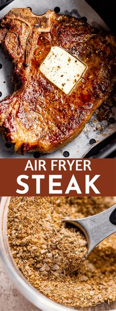 Making steak in the air fryer is a breeze, and it comes out so tender, juicy and delicious with my ultimate Air Fryer Steak recipe! Cook your sirloin steak just how you like it - all with the ease of your air fryer! #steak #sirloinsteak #airfryer #steakdinner #steakrecipes #airfryerrecipes Sirloin Steak Recipes, Beef Recipes, Cooking Recipes, Ninja Recipes, Air Fryer Dinner Recipes, Air Fryer Recipes Easy, Easy Recipes, Oven Grilled Steak, Home