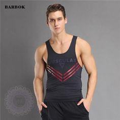BARBOK Male Fitness Yoga Shirt Basketball Running Tops Comfortable Men Bodybuilding Sleeveless Vest Gym Exercise Clothing