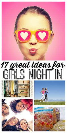 17 awesome girls\' night in ideas! Sometimes - you just need a night IN with your girlfriends. Use these 17 girls night in party ideas to keep things simple and FUN! Call your best gal pals, and start making plans to stay in! (I especially love #12!)