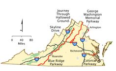 Virginia - Map | America's Byways