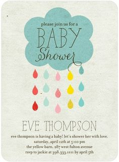 Drip Drop Shower - Baby Shower Invitations - Ann Kelle in Reef Blue. #babyshower #TopPin