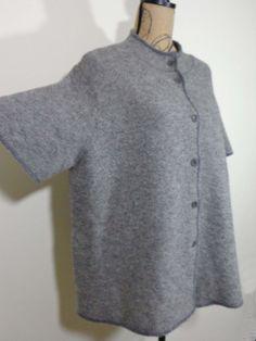 Eileen Fisher jacket lagenlook sweater artsy art to wear top gray upscale sz 2X #EileenFisher #BasicJacket