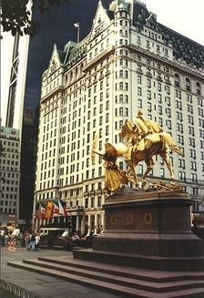 The Plaza Hotel, New York - that's a statue of General Sherman from the Civil War.