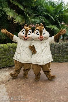 Feb 2014 - Chip & Dale - Character fun in Adventureland