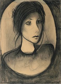 """""""Portrait of Genevieve"""" by Charles Blackman 