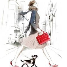 Wallpapers of fashion illustrations by French illustrator Sophie Griotto 1024x1024 (01)