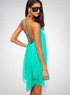 Hot Sale Strap Chiffon Dress