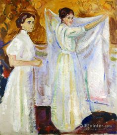 View Nurses Holding a Sheet Sykepleiersker med laken by Edvard Munch on artnet. Browse upcoming and past auction lots by Edvard Munch. Edvard Munch, Franz Marc, Amedeo Modigliani, Art Nouveau, Karl Schmidt Rottluff, James Ensor, Nurse Art, Emil Nolde, August Macke