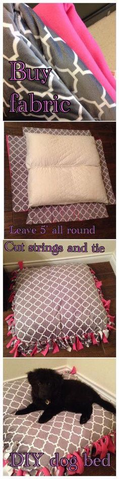 DIY Dog Bed. Need to try this.