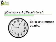¿Qué hora es? - Learn Spanish with Fresh Spanish