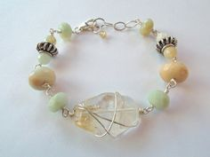 Citrine Nugget and Amazonite Sterling Silver Bracelet – Beth Lerner Jewelry http://bethlernerjewelry.com/collections/bracelets/products/citrine-nugget-and-amazonite-sterling-silver-bracelet