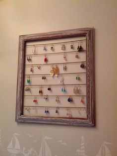 Earring Holder - 20 Cheap and Affordable DIY Home Decor Ideas
