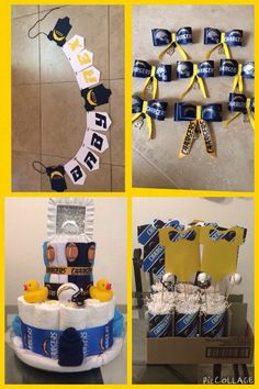 San Diego chargers theme baby shower by bharris