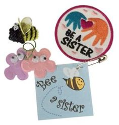 The Girl Scout law reminds us to be a sister to every Girl Scout. These swaps are a cute reminder.  Kit makes 24 SWAPs and includes a free patch! From Makingfriends.com