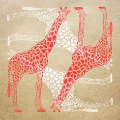 Orie's art【Giraffe / きりん 】#giraffeillust #design #動物イラスト #きりんイラスト #Giraffe #イラスト #デザイン #イラスト #細密画 #絵 #おしゃれイラスト Illustration, Prints, Illustrations