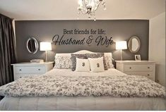 BEST FRIENDS FOR LIFE HUSBAND & WIFE Wall Art Decal Quote Words Lettering Home Decor - Best Seller - Priced to Love