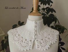 Tour de cou blanc , de style Victorien ! : Echarpe, foulard, cravate par le-crochet-de-anne