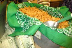 Food ideas - John Deere Party  Love the bucket and shovel idea!