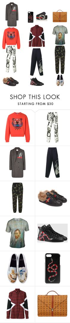 """Expression - Men"" by olyatomsk on Polyvore featuring Kenzo, Versus, Ne.Sense, Yohji Yamamoto, Billionaire Boys Club, Gucci, Sperry, Neil Barrett, MCM and men's fashion"