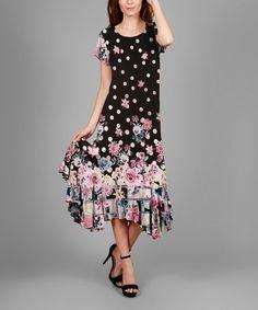 Loving this Black Floral Sheath Dress - Plus on #zulily! #zulilyfinds