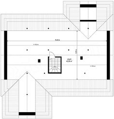 Projekt domu Parterowy 4 122,77 m2 - koszt budowy 207 tys. zł - EXTRADOM Floor Plans, House, Design, Country Houses, Home, Homes, Floor Plan Drawing, Houses