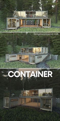 Shipping Container Home Designs, Container House Design, Small House Design, Shipping Containers, Building A Container Home, Container Buildings, Tiny House Cabin, Future House, Building A House