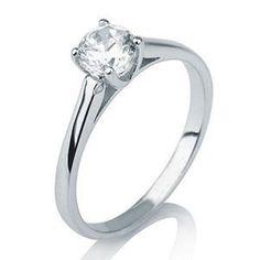 Diamantring 0.10 Karat aus 585er Weißgold -  http://www.diamantring.be/diamantringe/diamantring-010-karat