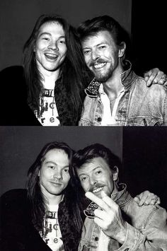 Axl Rose and David Bowie | Rare and beautiful celebrity photos