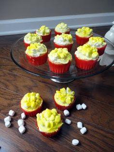 popcorn cupcakes for movie night