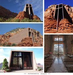 Часовня в скале, Аризона, США.