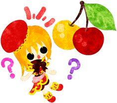 フリーイラスト素材可愛い女の子と不思議なさくらんぼ  Free Illustration A cute little girl and funny cherries   http://ift.tt/2pctekE
