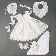 Shop our girls Christening gowns, dresses and outfits by collection. The perfect outfit for her Christening or Baptism. Christening Outfit Girl, Baby Girl Baptism, Christening Gowns, Dresses Kids Girl, Girl Outfits, Baby Blessing Dress, Baby Set, Dress Set, Dress Lace