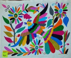 Mexican Embroidery Otomi Embroidery Otomi Fabric by OtomiParadise