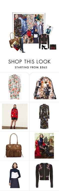 """Geen titel #28884"" by lizmuller ❤ liked on Polyvore featuring J.Crew, Sonia by Sonia Rykiel, Sachin + Babi, Erdem, Coach, Cédric Charlier, Fendi, Roland Mouret and Chanel"