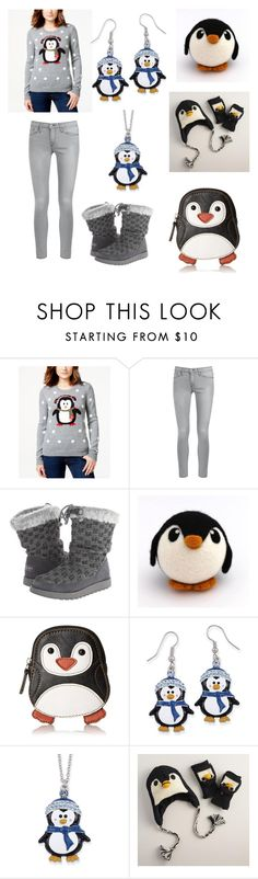 """""""PENGUINS!!!"""" by donna-bender ❤ liked on Polyvore featuring Almost Famous, Frame Denim, Skechers, Relic, Natures Jewelry and Cost Plus World Market"""