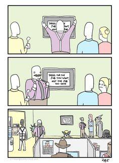 An Extra Fabulous comic that really explains workplace dress code.
