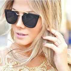 Óculos Prada Marrom Fosco Geometric - Chaves Store