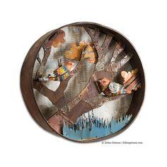 Warblers Diorama Circular Bird Sculpture with by dolangeiman